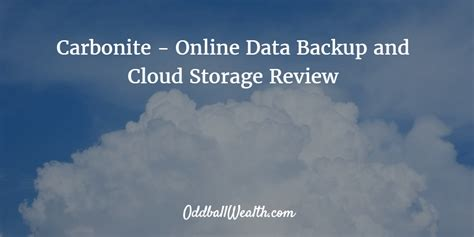 Never Data Again With Carbonite Unlimited Backuup by Carbonite Review Data Backup And Cloud Storage