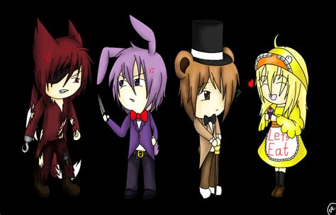 Five nights at freddy s chibis speedpaint by shinkou san d7zay02 jpg
