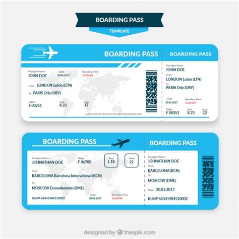 boarding pass blue and white boarding pass template vector free