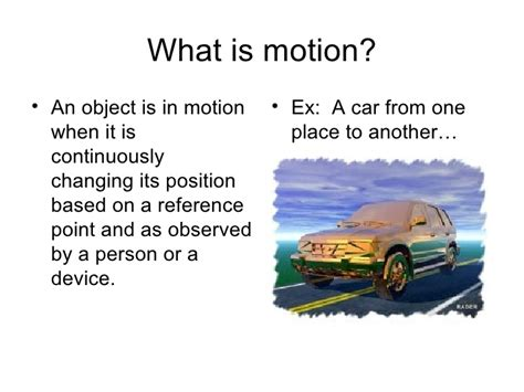 What Is In by What Is Motion