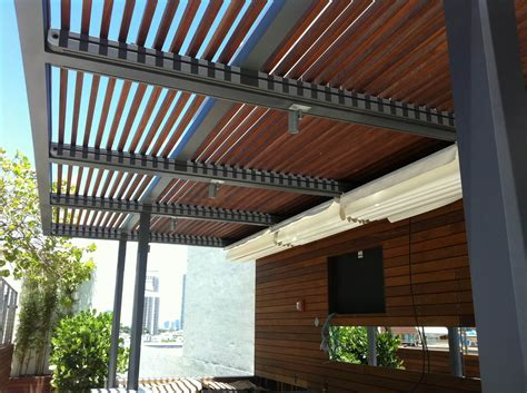 retractable roof systems and pergolas