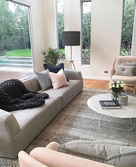 Grau Rosa Wohnzimmer by Grey And Pink Is A Combo For Living Room Design
