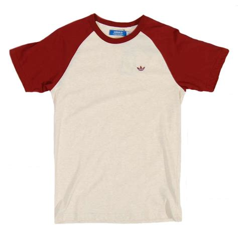Original Tshirt Raglan adidas originals raglan cb t shirt ecru mens t shirts