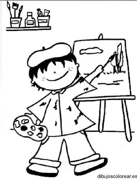 imagenes espirituales para niños dibujo de ni 241 o pintor con caballete