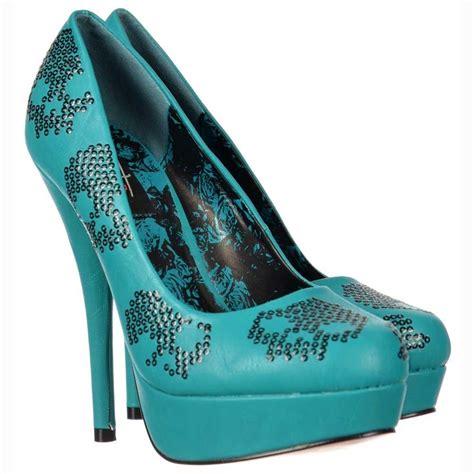 teal high heels iron sugar hiccup stiletto high heel platform