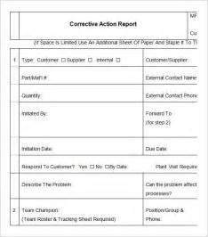 corrective action report template template design