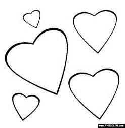 valentine hearts coloring