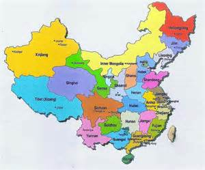 China Province Map by Hba 2010