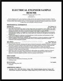 sle resume for electrical engineer in construction field mechanical engineering resume sle resumecompanion 100
