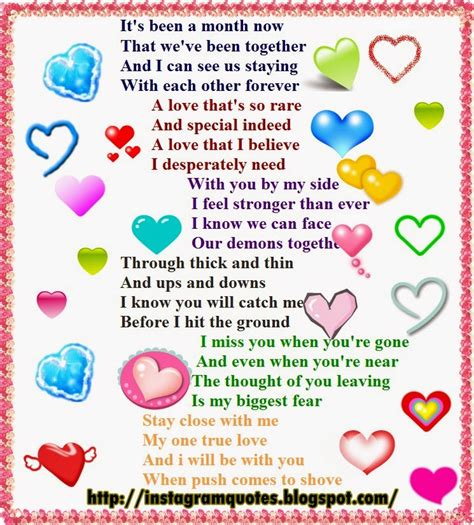 one month anniversary quotes for your boyfriend