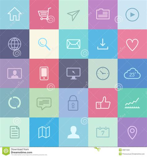app design elements vector flat application icons set stock photography image 33871202
