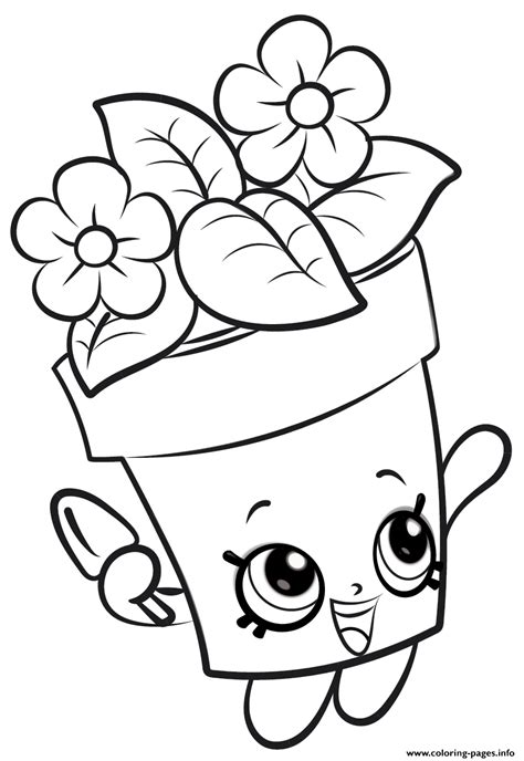 Flowers Coloring Pages Print by Shopkins Flowers New Coloring Pages Printable