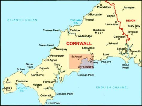 map uk cornwall map of cornwall