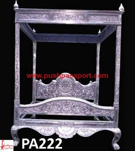 silver canopy bed silver canopy carving bed pushpa arts silver furniture