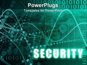 security online software as blue abstract art powerpoint