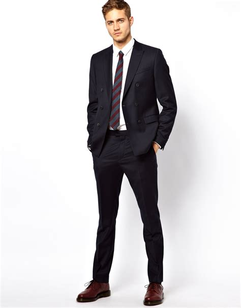 men s lyst asos slim fit suit trousers in italian fabric in