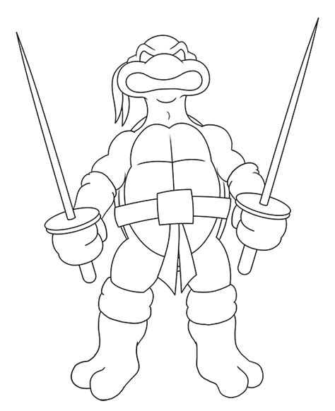 ninja turtles coloring pages easy how to draw a ninja turtle
