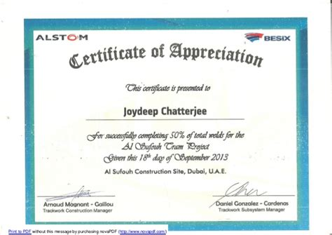 welding certificate template alstom welding appreciation certificate