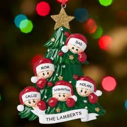 shop personalized family ornaments for up to 6 people at