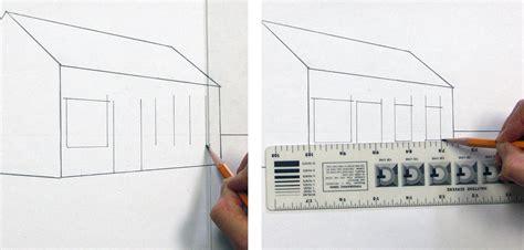 wie zeichnet ein haus ein haus perspektivisch zeichnen mit fluchtpunkten und