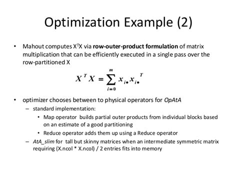 Selective Optimization With Compensation Essay by Bringing Algebraic Semantics To Mahout