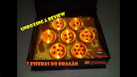 unboxing review 7 esferas do drag 227 o de 4cm aliexpress
