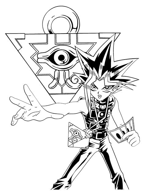free printable yugioh coloring pages free yugioh dark magician coloring pages