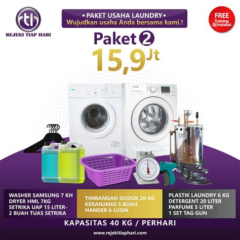 Setrika Uap Midea paket usaha laundry kiloan murah juragan pengering