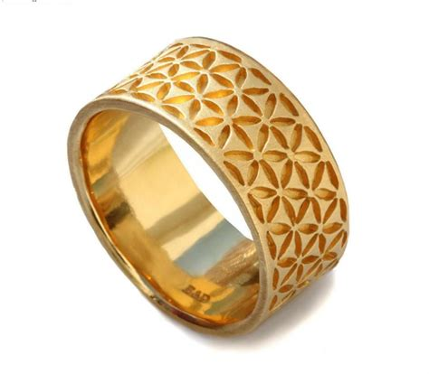 14k yellow gold band wide band s wedding band