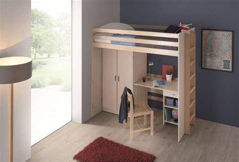 lit mezzanine bureau armoire lit mezzanine 90 x 200 cm morphea sommier panneau