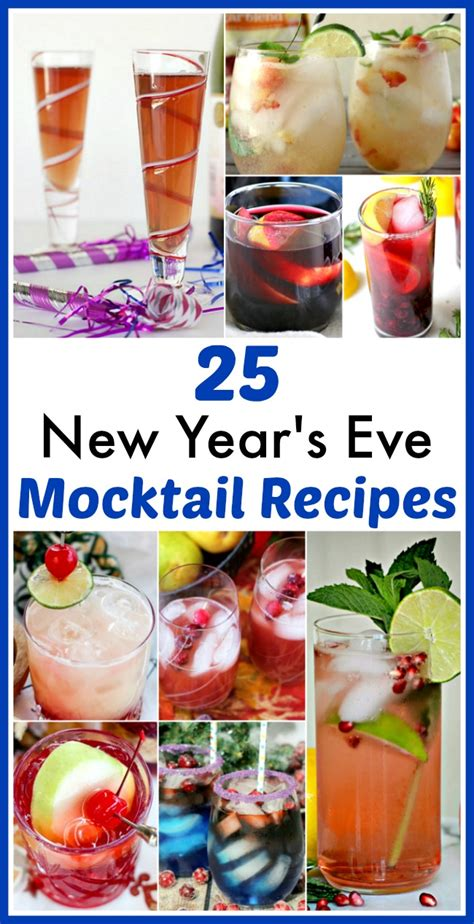 new year mocktail recipes 25 delicious new year s mocktail recipes
