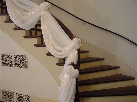 decorating a banister double staircases decorated for christmas washington