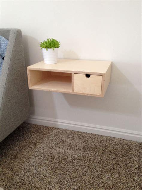Diy Floating Shelf Nightstand by Modern Plywood Floating Nightstand Room Diy Nightstand