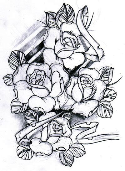 roses tattoos tumblr sketch