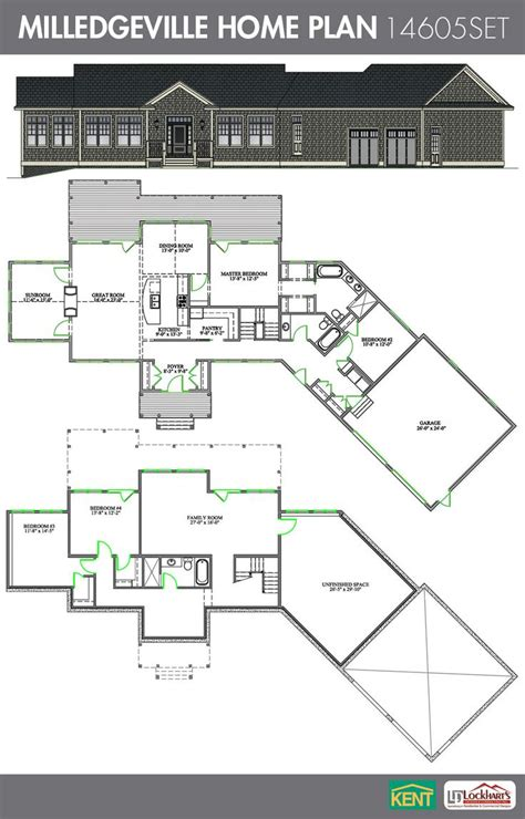 large ranch drawings and plans millidgeville waterfront 22 best images about ranch home plans on pinterest