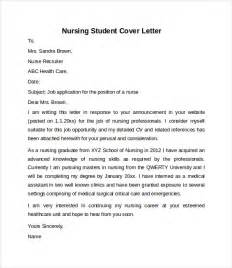 Cover Letters For Nursing Students by Resume Cover Letter Sles Nursing Assistant
