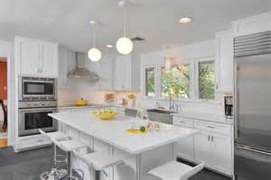 Made To Order Kitchen Cabinets by Brighten Your Kitchen With Sparkling White Quartz Countertop