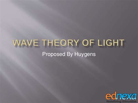 Wave Theory Of Light by Study Material 12th Physics Wave Theory Of Light Part Ii
