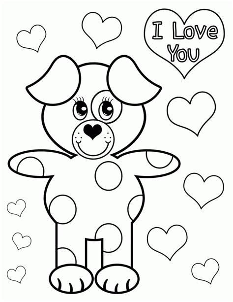 valentines day coloring pages with dogs valentines day coloring page coloring rocks