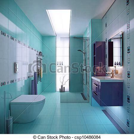 Hellblaues Badezimmer by Stock Illustration Blaues Inneneinrichtung