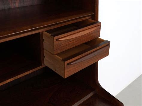 desk with pull out writing surface scandinavian modern secretary desk in rosewood with pull