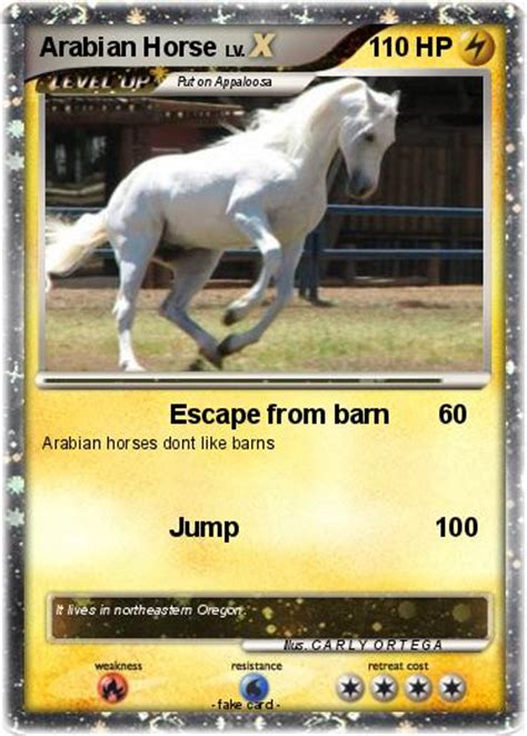 pokemon arabian horse escape  barn  pokemon card