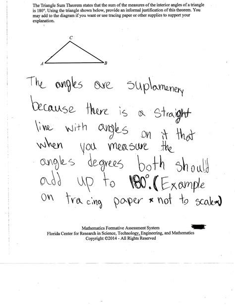 worksheet triangle sum and exterior angle theorem worksheet triangle sum and exterior angle theorem work