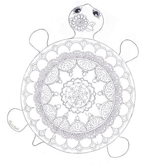 coloring pages for adults turtles mandala turtle coloring page favecrafts