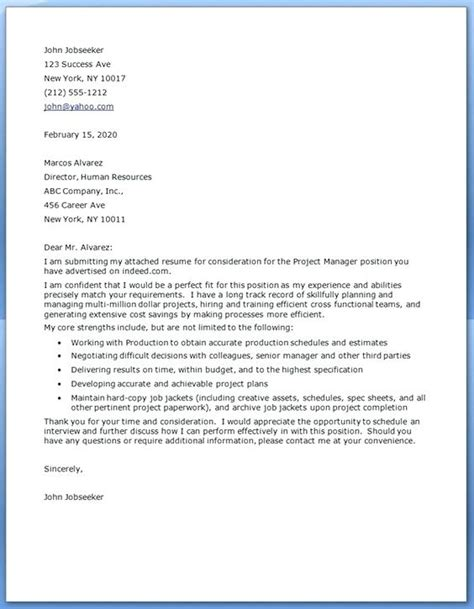 Seasonal Cover Letter by 99 Sle Cover Letter For Project Manager Sle Application Cover Letter
