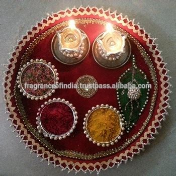 decorative aarti thali pictures designer decorative handmade diwali pooja thali
