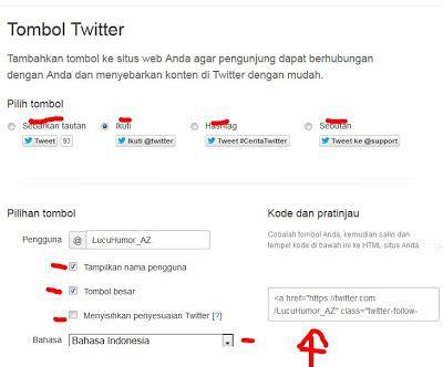 Membuat Follow Twitter Di Blog | cara membuat tombol follow twitter di blog yudhi adryanto