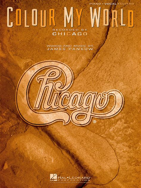 chicago color my world colour my world sheet by chicago sheet plus