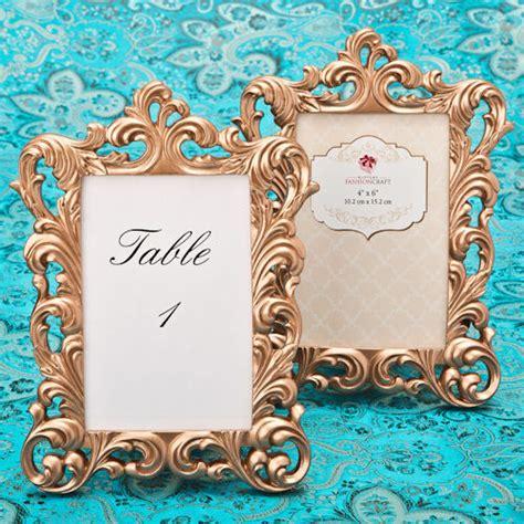 gold table number frames vintage gold baroque 4 x 6 photo table number frames