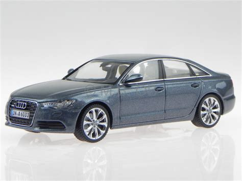 Audi A6 Modellauto by Audi A6 C7 Mondschein Blau Modellauto 450748001 Schuco 1